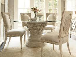 Decorate Round Glass Kitchen Table All Furniture Round Glass