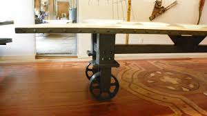 Vintage Oak Dining Table Industrial Dining Table Reclaimed Vintage Oak Top Industrial
