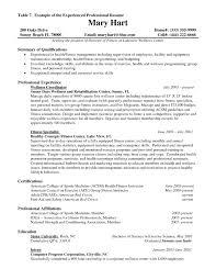 resume sample experience