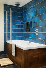 Creativity Bathroom Remodel Blue Give Your Walls The Wow Factor With Intense Intended Modern Ideas