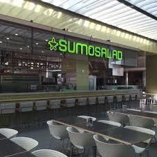 sumo salad ⋆ aptus patron seating is incorporated along 3 sides of the kiosk a ring soffit displays menus and fresh ingredients clear views of preparation areas