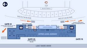Soldier Field Chicago Bears Seating Chart The Midway Chicago Bears Official Website