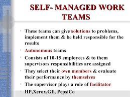 self managed teams work teams