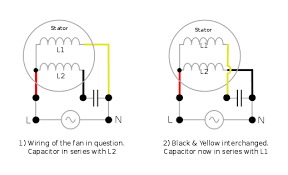 electrical how do i re wire a ceiling fan to reverse its capacitor start induction motor wiring