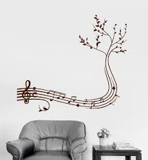 Wall Decal Musical Branch Music Decor Home Decoration Vinyl Stickers  (ig2976)