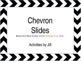 Powerpoint Chevron Template Simple Chevron Borders Powerpoint Template By Activities By Jill