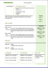 Functional Cv Templates Resume Templates