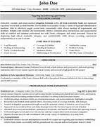 Gallery Of Attorney Resume Samples Template Resume Builder - Legal ...