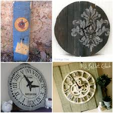 simple round pallet clock tutorial at prodigal pieces paris clock from reclaimed wood at 4 the love of wood