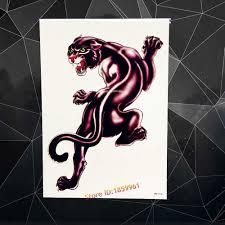 Black Panther Waterproof Tattoo Men Body Art Paint Jaguar Designs