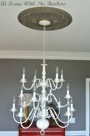 spray painting a chandelier foyer chandeliers fix harsh lighting spray nted chandelier
