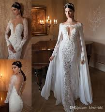 discount 2015 fascinating ivory lace wedding dresses deep v neck