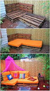 diy outdoor pallet sectional. Outdoor Pallet Sofa \u2013 Sectional - 21 DIY Plans Diy N