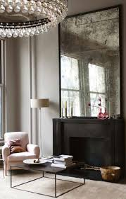 antique mirror makes for a stunning statement piece in a sitting room