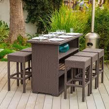 Outdoor patio furniture bar sets