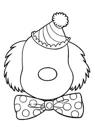 Clown Hoofd Kleurplaat Tropicalweather
