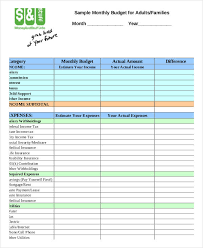 Free 7 Family Budget Form In Sample Example Format