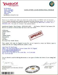 Review Lottery Award International Program - Yahoo 287061 Scam Complaintsboard Email