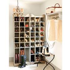 Natty From White Wooden Material In Corner Closet tall shoe rack walmart  ideas