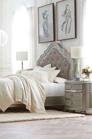 havertys bedding sets. the havertys brigitte bed features a platinum finish and an upholstered headboard tufted with crystal buttons bedding sets s