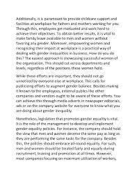 sample essay on solutions to gender inequality in the workplace 2