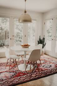 bohemian lighting. Dining Room With Beautiful Red Southwestern Rug Brass Light Fixture Home Interiors Bohemian Lighting C