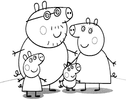 Peppa pig is a part of our huge collection of coloring pages. Peppa Pig The Pig Family Peppa George Daddy And Mummy Pig