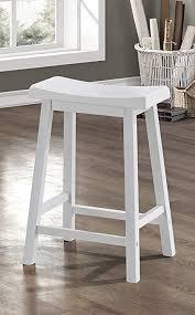 white saddle stool. Beautiful White White 24u0026quotH Saddle Seat Bar Stools  Throughout Stool Amazoncom