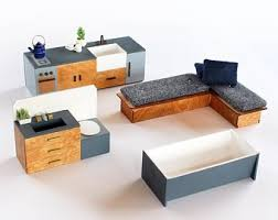 Where to find dollhouse furniture Wooden Dollhouse The Boxy Furniture Set 112 Scale Contemporary Dollhouse Furniture The Interiors Addict Dollhouse Furniture Etsy
