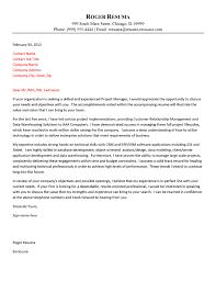 Experienced Professional Cover Letter Technology Cover Letter Example