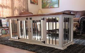 dog crates as furniture. Custom Made Double Dog Crate. This Crate Is Currently Sold Out, But It Can Be Built For You. Contact Details. Crates As Furniture A