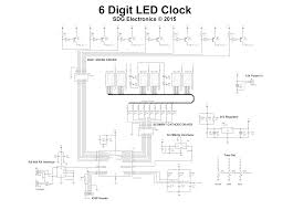 6 digit led clock sdg electronics full 6 digit clock schematic