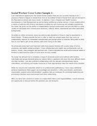 Cover Letter For Social Worker Job New Sample Social Work Cover ...