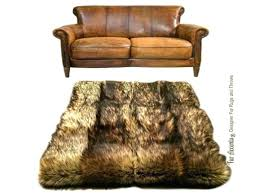 wolf area rug pieced fur area rug golden brown wolf pelt rug premium faux fur from wolf area rug