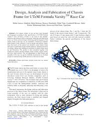 Fsae Chassis Design Report Pdf Design Analysis And Fabrication Of Chassis Frame For