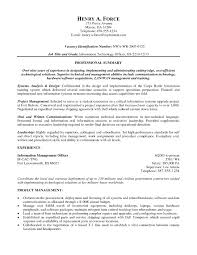 Infantry Resume Examples Free Resume Templates