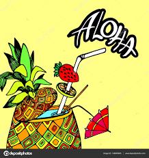 パイナップルベクトル果物食品熱帯夏デザインイラスト