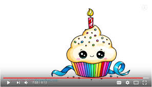 cute cupcake drawing.  Drawing Video How To Draw A Cute Birthday Cupcake In Drawing C