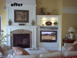 designs of tv in corner beside fireplace google search