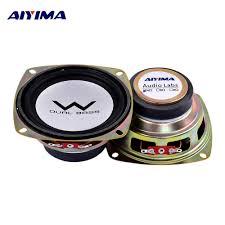AIYIMA <b>2Pcs 4 inch</b> 20W Audio Woofer Speaker <b>4</b> Ohm Alto Altavoz ...