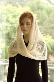 infinity veil. infinity scarf capelet shawl cream ivory winter white lace wool knit. $42.00, via etsy veil m