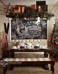 Kitchens Decorated For Christmas My Kitchen For The Holidays With A Quick Chalkboard How To