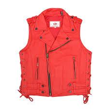 maplesteed cowhide genuine leather vest men motorcycle vest vintage moto biker vest red black mens waistcoat plus size 5xl 051 in genuine leather coats from