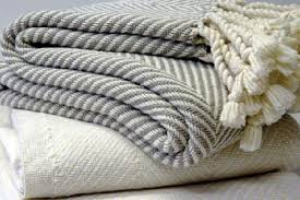 Grey And White Throw Blanket