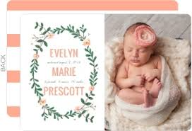 spring baby announcements spring greenery frame girl birth announcement girl birth announcements