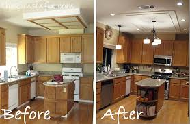 modern fluorescent kitchen lighting. Perfect Kitchen Themes About Replacing Updating Fluorescent Ceiling Box Lights With Modern Lighting