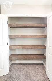 convert wire shelves into wood shelves