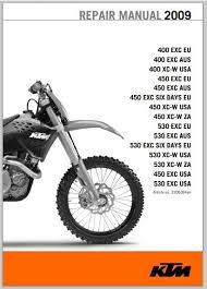 2011 ktm 400 exc 450 exc 450 exc six days 450 530 exc xc w 2009 ktm 400 450 530 xc w exc six days service manual pdf
