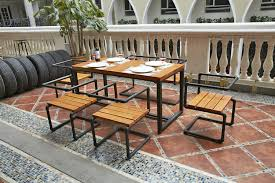 wood and wrought iron furniture. American-style Fast-food Restaurant Retro Simple Tables Wrought Iron Furniture Wood Dining And Chairs 0