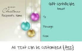 Printable Christmas Certificates Free Christmas Gift Certificate Template Free Editable Christmas